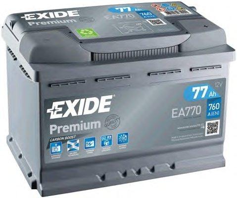 BATERIE EXIDE PREMIUM 12V 77AH 760A 278X175X190 +DR (EA770)