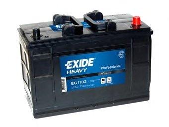 BATERIE EXIDE PROFESSIONAL 12V 110AH 750A 349X175X235 +DR (EG1102)