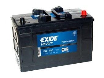 BATERIE EXIDE PROFESSIONAL 12V 110AH 750A 349X175X235 +DR (EG1100)