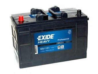 BATERIE EXIDE PROFESSIONAL 12V 110AH 750A 349X175X235 +STG (EG1101)