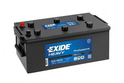 BATERIE EXIDE PROFESSIONAL 12V 180AH 1000A 513X223X223 +STG (EG1803)