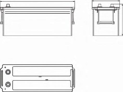 BATERIE EXIDE PROFESSIONAL POWER 12V 145AH 1050A 513X189X223 +STG (EF1453)