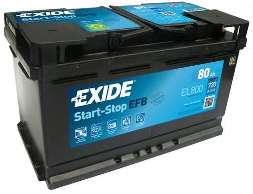 BATERIE EXIDE START-STOP EFB 12V 80AH 720A 315X175X190 +DR (EL800)