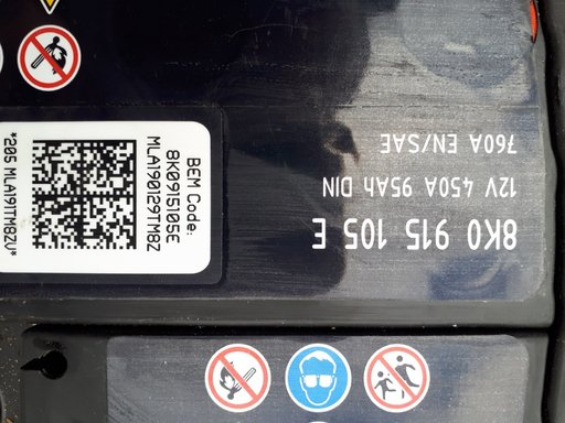 Baterie originala Audi A4 b8 cu cod
