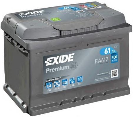 BATERIE PREMIUM EXIDE 61AH 600A 242X175X175 +DR (EA612)