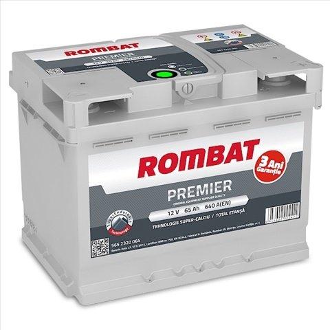 BATERIE ROMBAT PREMIER 65AH 640A 242X175X190 +DR