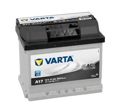 BATERIE VARTA 12V 41AH 360A BLACK DYNAMIC A17 207X175X175MM +DR (5414000363122)