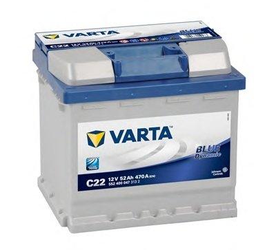 BATERIE VARTA 12V 52AH 470A BLUE DYNAMIC C22 207X175X190MM +DR (5524000473132)