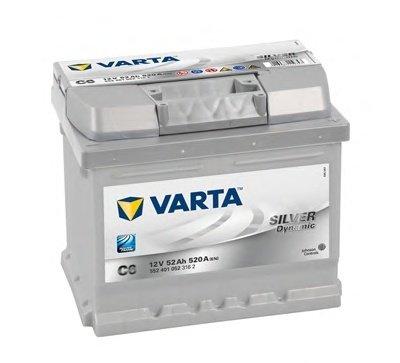 BATERIE VARTA 12V 52AH 520A SILVER DYNAMIC C6 207X175X175MM +DR (5524010523162)