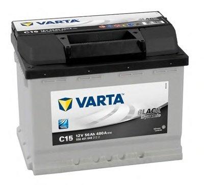 BATERIE VARTA 12V 56AH 480A BLACK DYNAMIC C15 242X175X190MM +STG (5564010483122)