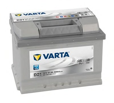 BATERIE VARTA 12V 61AH 600A SILVER DYNAMIC D21 242X175X175MM +DR (5614000603162)