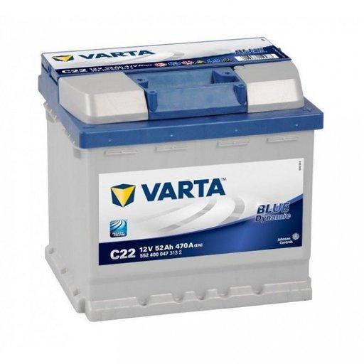 Baterie Varta Blue 52Ah C22 5524000473132