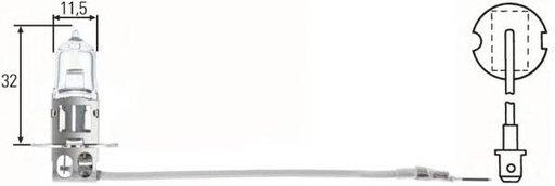 Bec, far faza lunga MAN NL, MAN ÜL, MERCEDES-BENZ ACTROS - HELLA 8GH 002 090-471