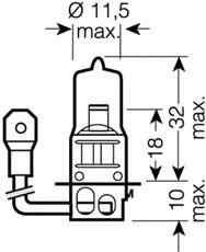Bec, far faza lunga MERCEDES-BENZ COUPE (C124) Producator OSRAM 64151NBU