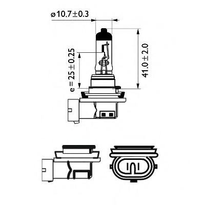 Bec, far faza lunga MERCEDES-BENZ G-CLASS (W463), MERCEDES-BENZ G-CLASS Cabrio (W463), PORSCHE 911 (996) - PHILIPS 12362BVUB1