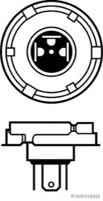 Bec, far faza lunga VOLVO F 7, RENAULT TRUCKS G - HERTH+BUSS ELPARTS 89901091