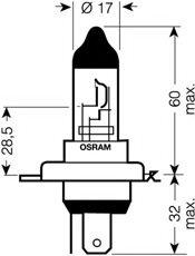 BEC H4 NBU DUO BOX - OSRAM - 64193NBU-HCB