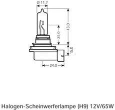 BEC H9 12V STANDARD - OSRAM - 64213