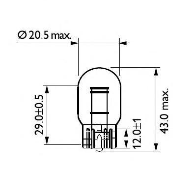 Bec, lampa frana / lampa spate MAZDA RX 7 Mk III (FD), TOYOTA SUPRA (JZA80), MITSUBISHI SHOGUN III autoturism de teren, deschis (V6_W, V7_W) - PHILIPS