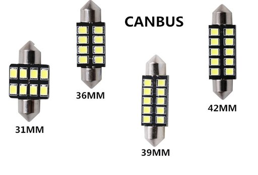 Bec Led Auto C5W Canbus 5W 31mm /36mm /39mm/ 42mm