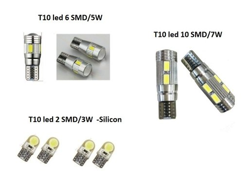 Bec led T10 / W5W / Canbus / Cree-led