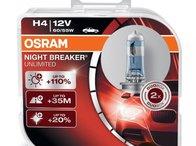 Bec Osram H4 12V 55W Night Breaker Unlimited 64193NBU-HCB Set 2 Buc