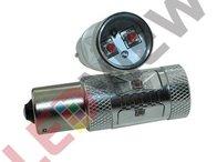 Bec P21W / 1156 cu led CREE putere 30W - Rosu