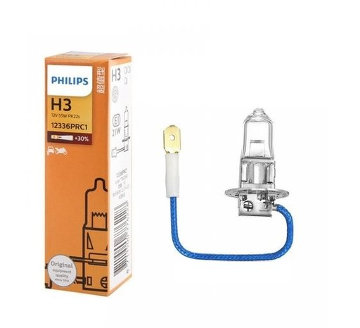 Bec Philips 12v 55w H3 vision 12336prc1, cutie carton