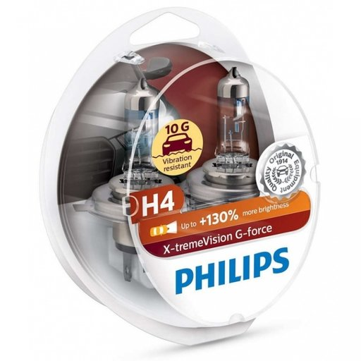 Bec Philips H4 P43T 12V 60/55W G-Force +130% Set 2 Buc 12342XVGS2