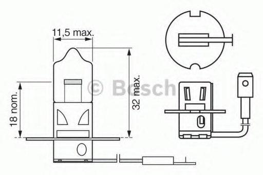 Bec, proiector ceata UAZ PATRIOT, UAZ 31512 (3151) - BOSCH 1 987 302 036