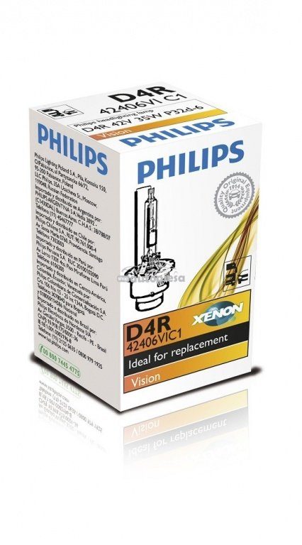 Bec Xenon Philips D4R Vision 85V 35W 42406VIC1 - piesa NOUA