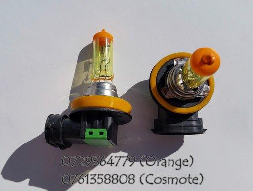 Becuri GALBENE H11 - 12V - 55W pentru proiectoare - pret/set