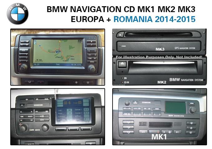 Bmw Cd Harta Navigatie Mk1 Mk2 Mk3 Europa Full Romania 2015