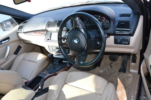 BMW X5 E53 3.0D 160kw 218cp diesel 2002 2003 2004 automata Negru Anglia Piese M57N