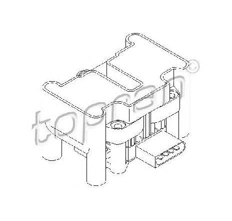 Bobina de inductie VW SHARAN ( 7M8, 7M9, 7M6 ) 05/1995 - 03/2010 - producator TOPRAN 109 316 - 301312 - Piesa Noua