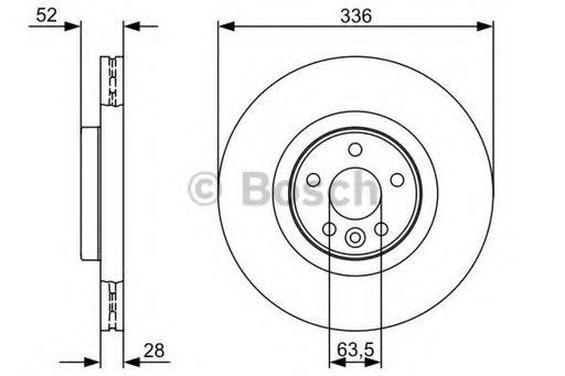 Bosch disc frana spate volvo s80, v70, xc70