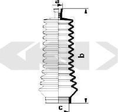 Burduf cauciuc, directie NISSAN KUBISTAR CAROSERIE ( X80 ) 08/2003 - 2019 - producator SPIDAN 83847 - 308531 - Piesa Noua