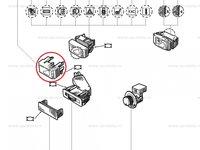 Buton fals, capac plansa bord Renault Espace 2 , Clio 1, Original 7700797776