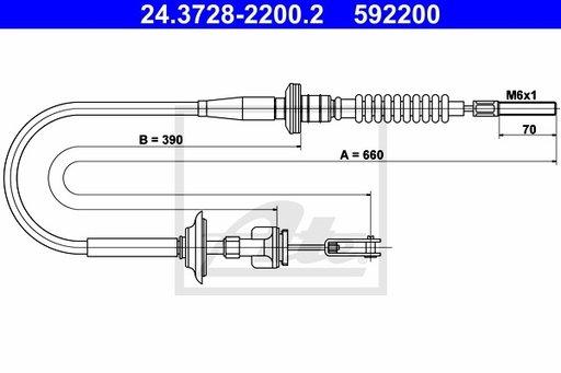 Cablu Ambreaj - ATE - 24.3728-2200.2