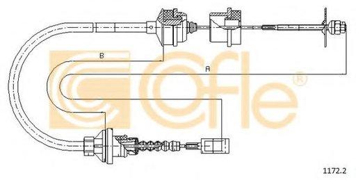 Cablu ambreiaj FIAT DUCATO bus (230) (1994 - 2002) COFLE 1172.2 - produs NOU