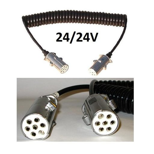 Cablu electric tata 7 poli, 24/24V, stecher metal | Piese Noi | Livrare Rapida | SRES3853FM45