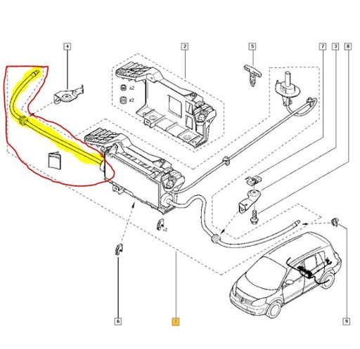 Cablu frana de mana dr Renault Grand Scenic II 2004-