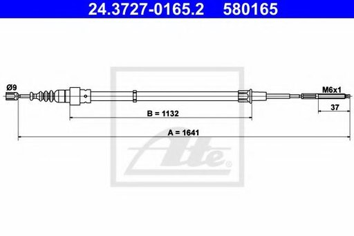 Cablu frana de mana / parcare SEAT CORDOBA (6K1, 6