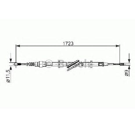 Cablu, frana de parcare AUDI A3 ( 8L1 ) 09/1996 -