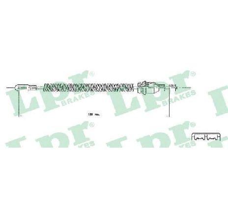Cablu, frana de parcare OPEL ASTRA G CAROSERIE ( F70 ) 01/1999 - 04/2005 - producator LPR C0543B - 304583 - Piesa Noua