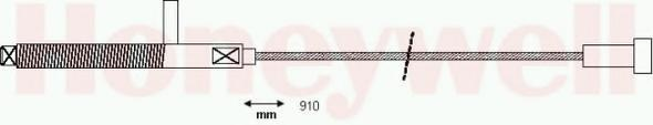 Cablu, frana de parcare SEAT RONDA (022A), SEAT MALAGA (023A) - BENDIX 432043B