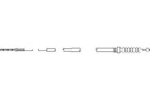 Cablu, frana de parcare SEAT TOLEDO  (1L), VW GOLF Mk II (19E, 1G1), VW JETTA Mk II (19E, 1G2, 165) - TOPRAN 102 837