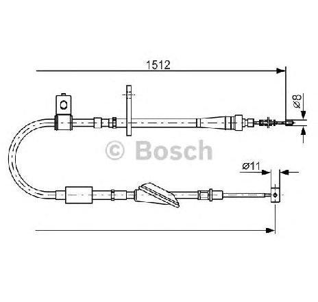 Cablu frana de parcare SUZUKI IGNIS FH PRODUCATOR BOSCH 1 987 482 176