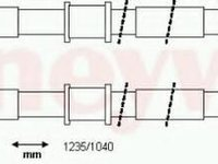 Cablu, frana de parcare VAUXHALL CORSAVAN Mk II (C), OPEL COMBO caroserie inchisa/combi, VAUXHALL COMBO Mk II (C) caroserie inchisa/combi (F25) - BEND
