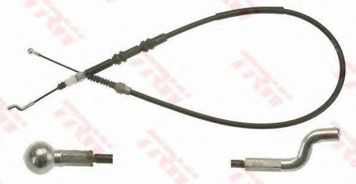 Cablu, frana de parcare VW TRANSPORTER V platou / sasiu (7JD, 7JE, 7JL, 7JY, 7JZ, 7FD) (2003 - 2016) TRW GCH132 - piesa NOUA